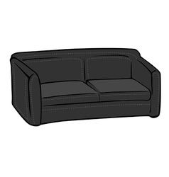 Couch black leather vector