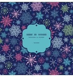Snowflakes on night sky christmas snowflake vector