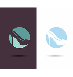 Logo women sign women shoe icon high heels shoe vector