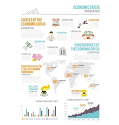 Economic crisis infographics vector