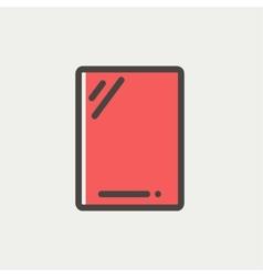 Gadget thin line icon vector