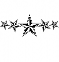 Nautical stars vector