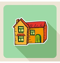Sketch style real estate house vector