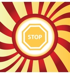 Stop abstract icon vector