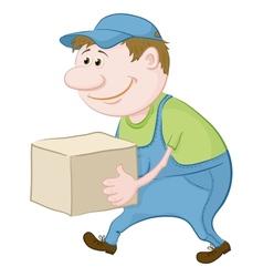 Porter carries a box vector