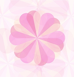 Abstract floower pink geometrical background2 01 vector
