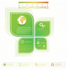 Modern green infographic design vector
