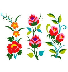 Abstract scroll flower pattern vector