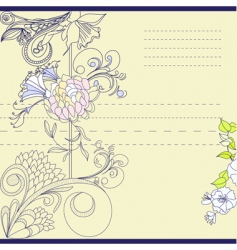 Template for note paper vector