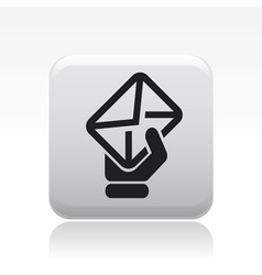 Mail hand icon vector