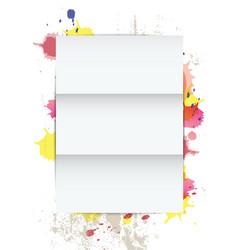 White paper on splatter background vector