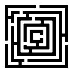 Rectangle maze izolated on white vector