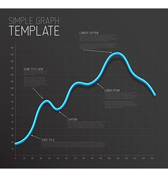 Infographic line graph template vector
