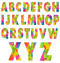 Colorful alphabet letters vector