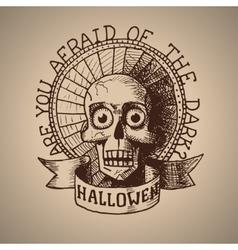 Halloween hand draw skull eps10 vector