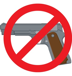 No handguns vector