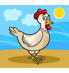 Hen farm animal cartoon vector