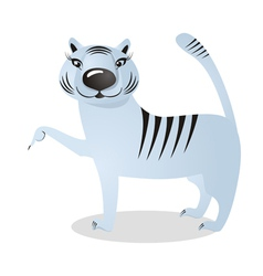 White tigress vector