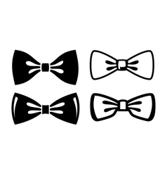 Bow ties icons vector