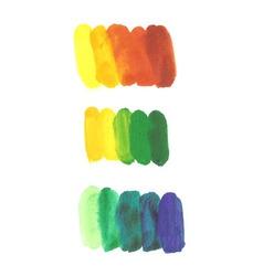 Artistic strokes groups vector