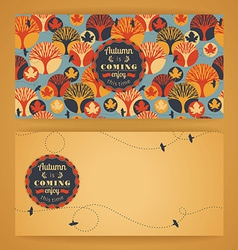 Autumn background with typography vector