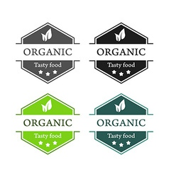 Emblems of organic tasty food vector