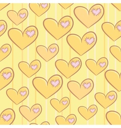 Seamless valentines day pattern with hearts vector