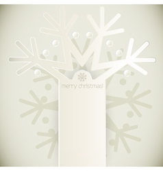 New year snowflakes greeting card vector