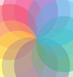 Abstract flower geometrical background 01 vector