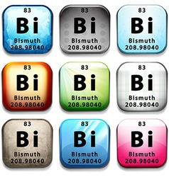 An icon with the chemical element bismuth vector
