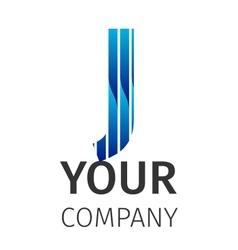 Abstract blue logo j vector