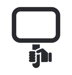 Mirror icon vector