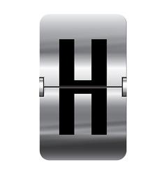 Alphabet silver flipboard letters h vector