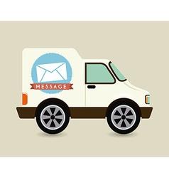 Courier car design vector