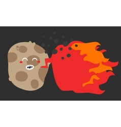 Crazy potato vector