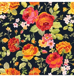 Vintage floral background - seamless pattern vector