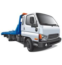 Modern tow truck vector