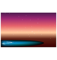 Sky pond at night vector