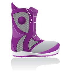 Boot for snowboarding vector