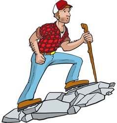 Manly hiker vector