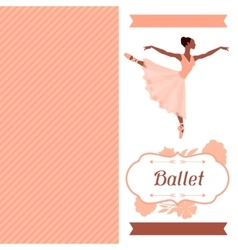Invitation card to ballet dance show with vector