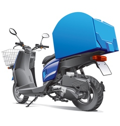 Scooter for delivery goods vector