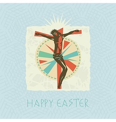 Christ easter card vector