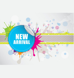 New arrival label design vector