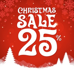 Christmas sale 25 percent vector