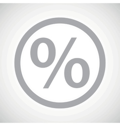 Grey percent sign icon vector