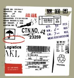 Cargo and freight signs vector