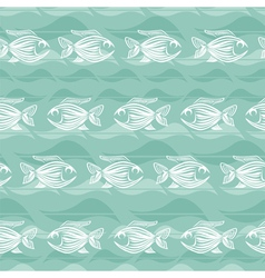 Fishes seamless pattern vector