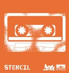 Stencil tape vector