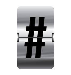 Alphabet silver flipboard letters hash vector